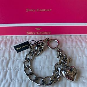Juicy Couture Jewelry - Juicy Couture Silver Puff Heart Starter Bracelet